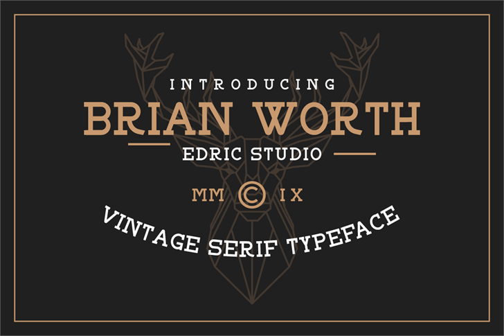 BRIAN WORTH Font design screenshot