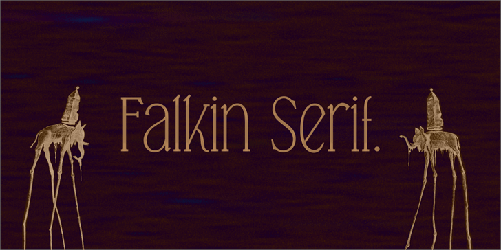 Falkin Serif PERSONAL Font text typography