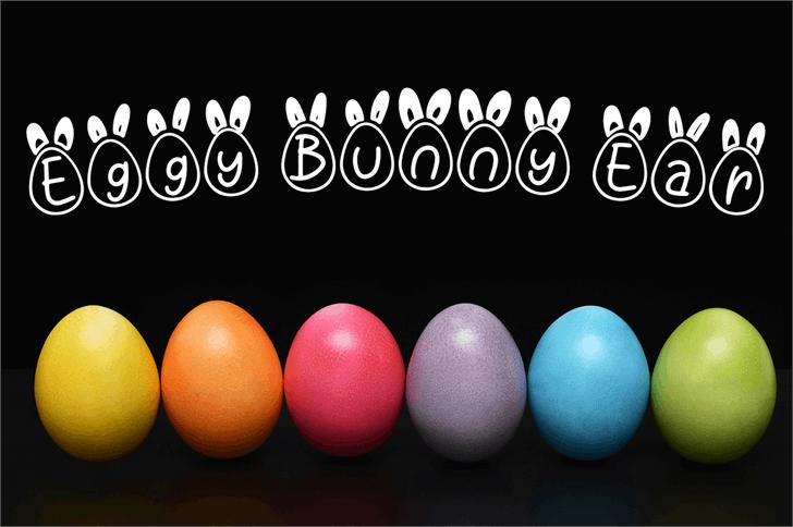 Eggy Bunny Ear Font indoor ball