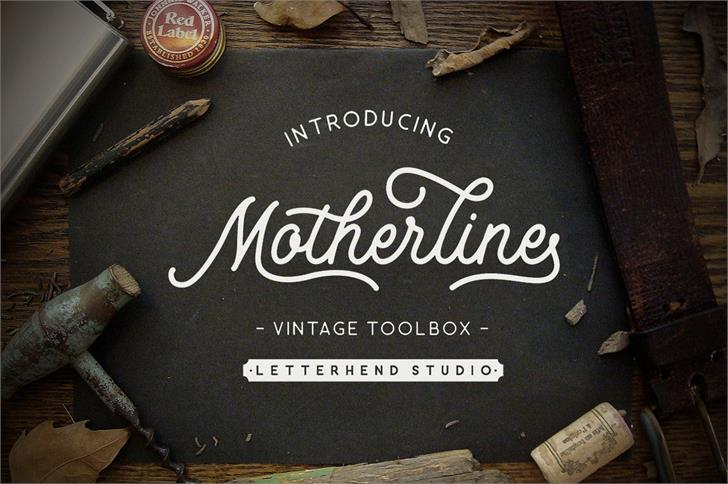 Motherline DEMO Font handwriting menu