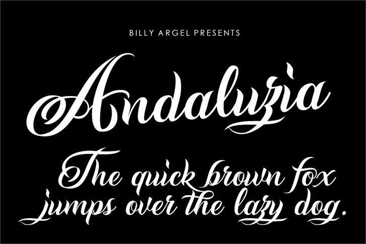 Andaluzia Personal Use Font handwriting design