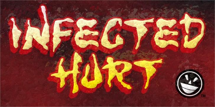 WILD3 Infected Hurt Font sign graffiti