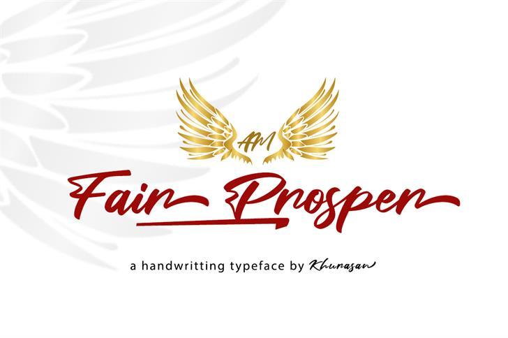 Fair Prosper Font design bird