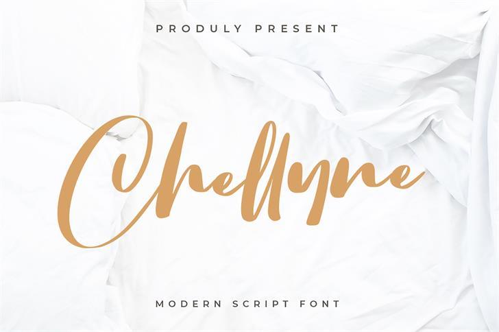 Chellyne Font poster