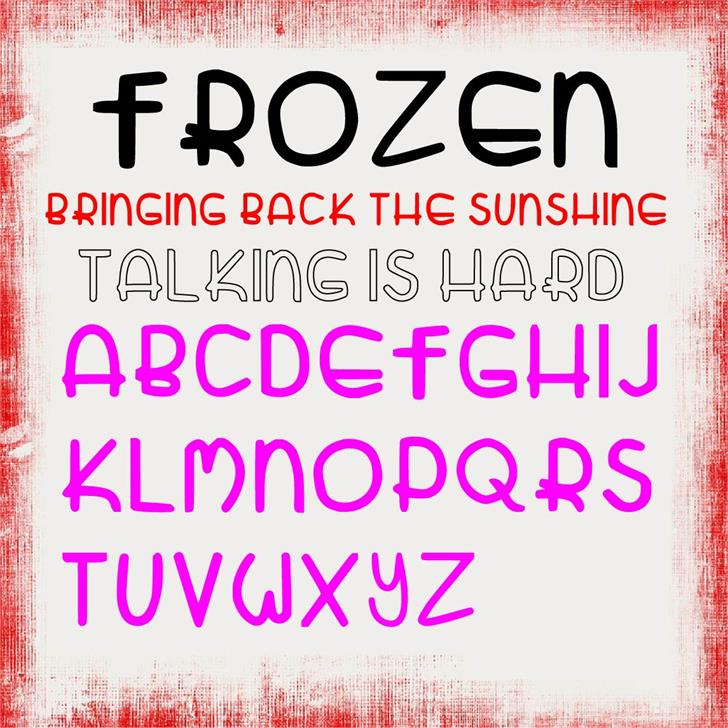 Zatari Font text screenshot