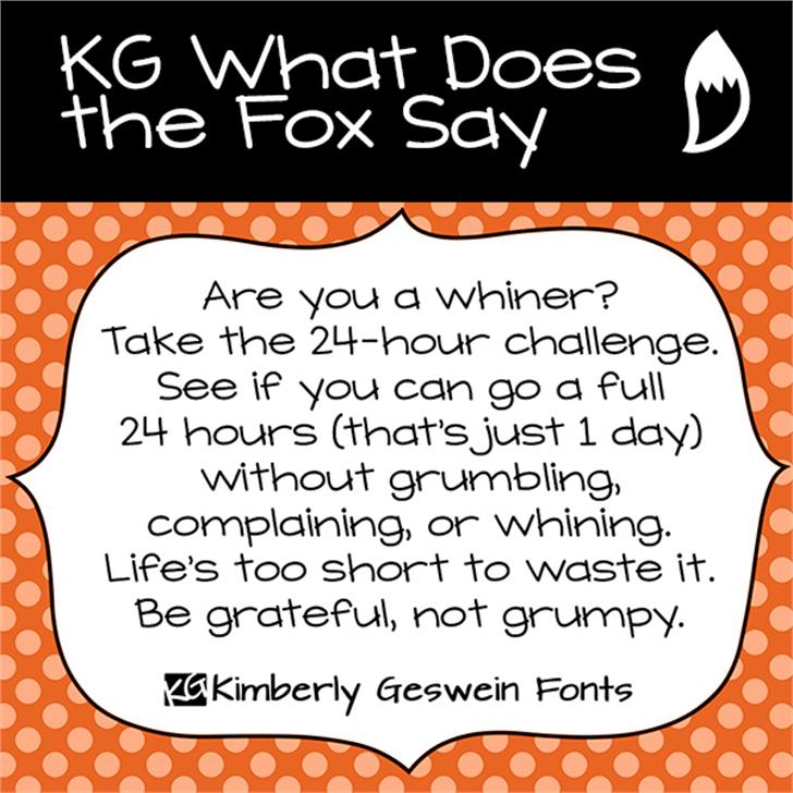 KG What Does the Fox Say Font text cartoon
