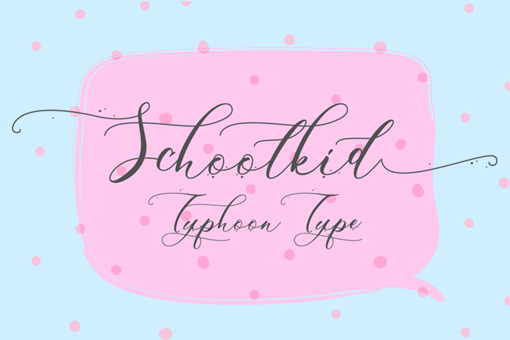 Schoolkid Font handwriting letter