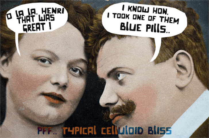 Celluloid Bliss font by David Kerkhoff