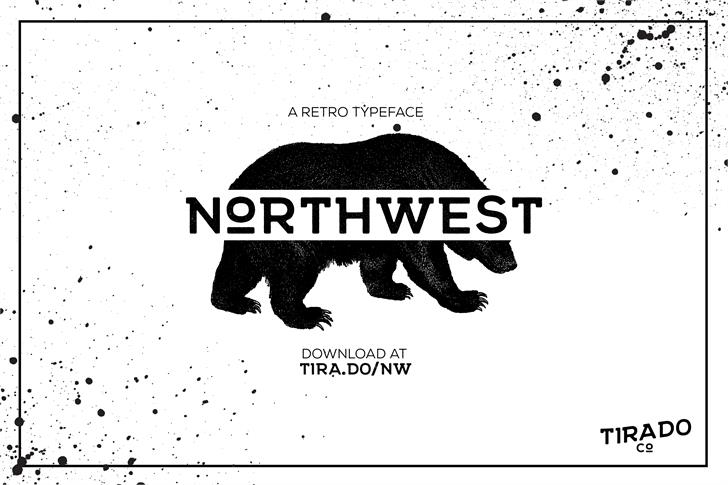 NORTHWEST Bold Font design cartoon