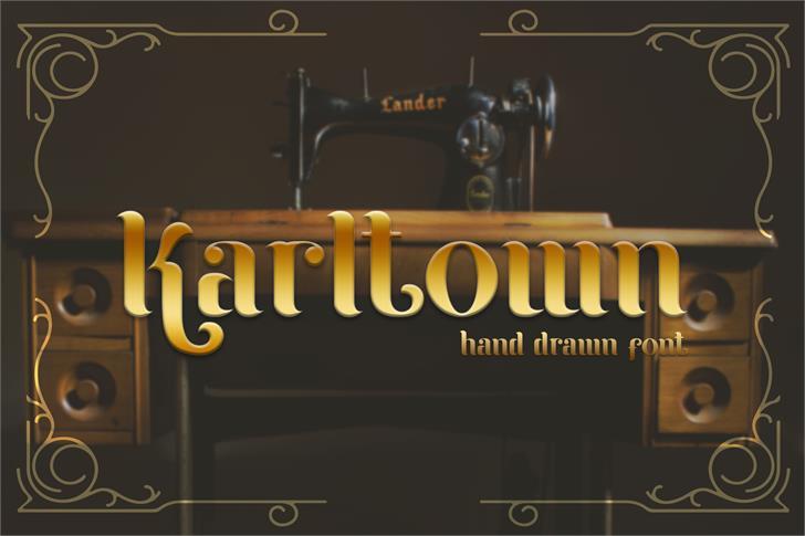 Karltown Font poster