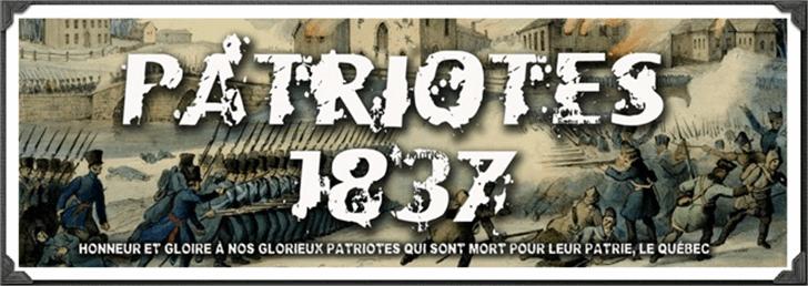 Patriote1837 Regular Font poster