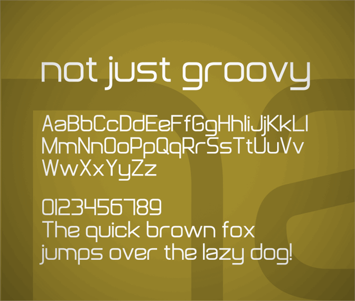 Not Just Groovy Font screenshot text