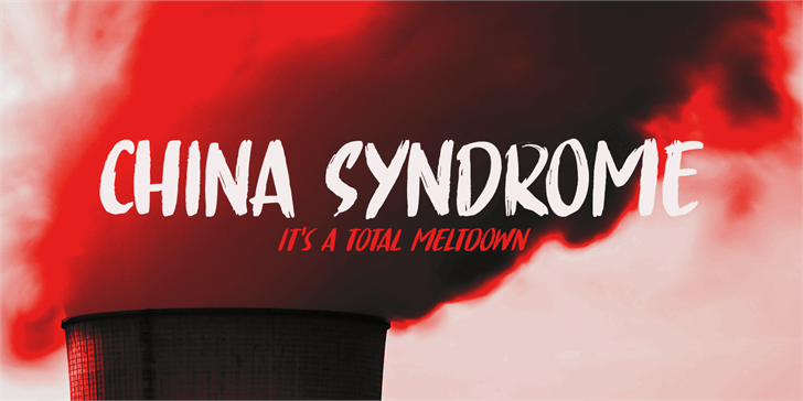 China Syndrome DEMO Font poster