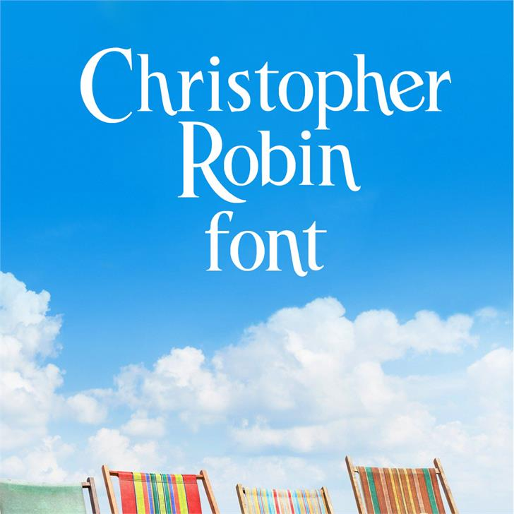 Christopher Robin Font design text