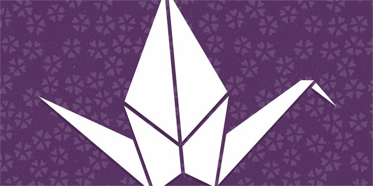 OrigamiBats Font triangle geometric