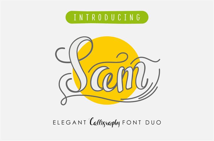 Sam Font design cartoon