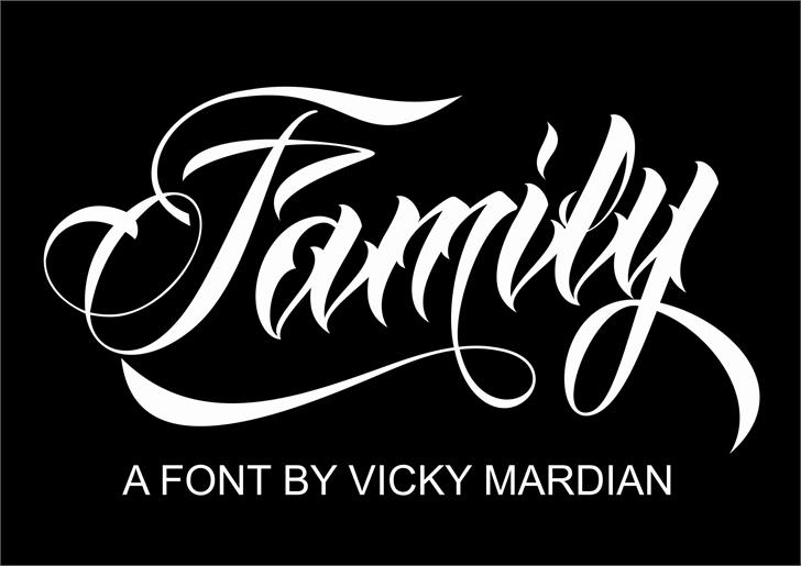 Anha Queen VMF Font design graphic