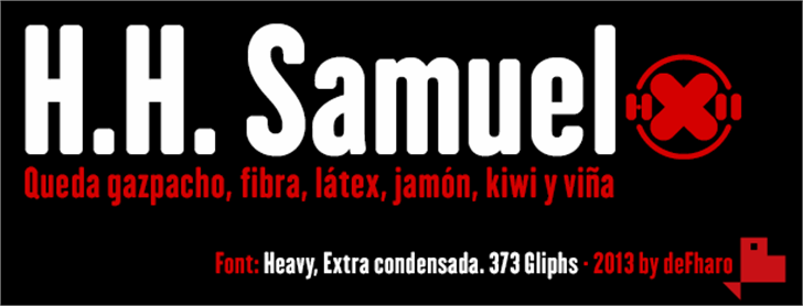 H.H. Samuel Font design screenshot