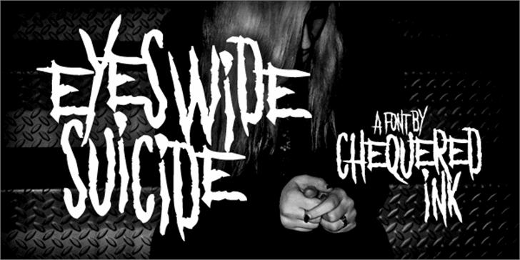Eyes Wide Suicide Font drawing handwriting