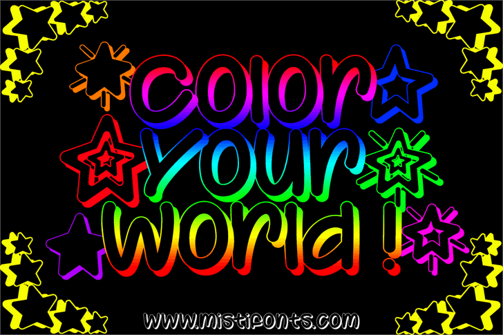 Color Your World Font book design