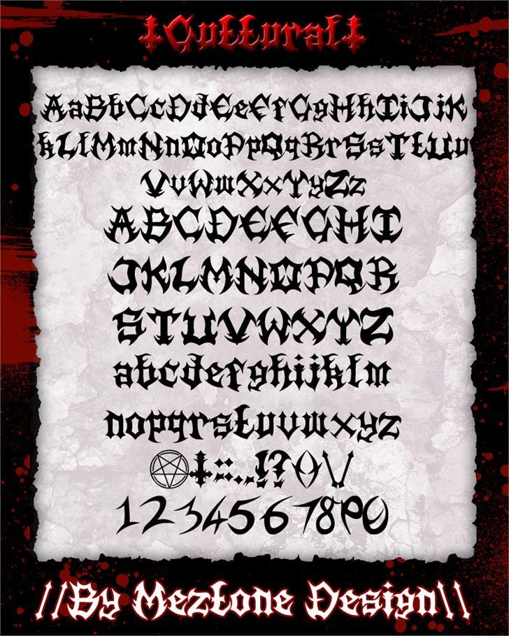 Guttural font by Meztone Design