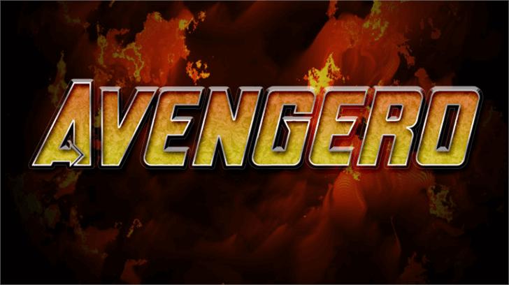 Avengero Font text