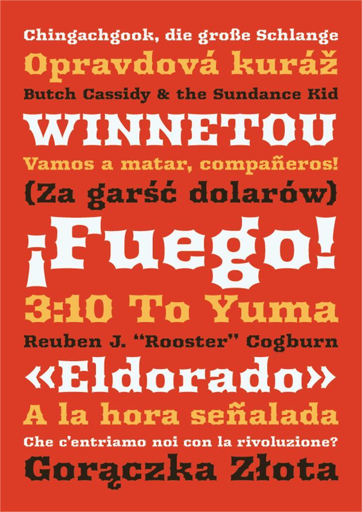 Arbutus Font poster design