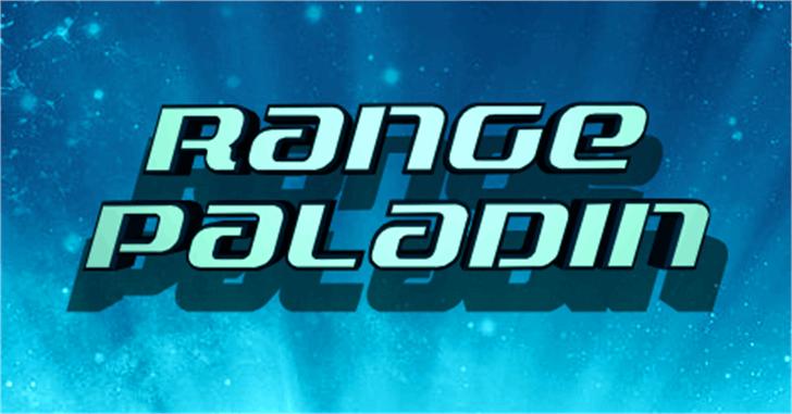 Range Paladin Font blue screenshot