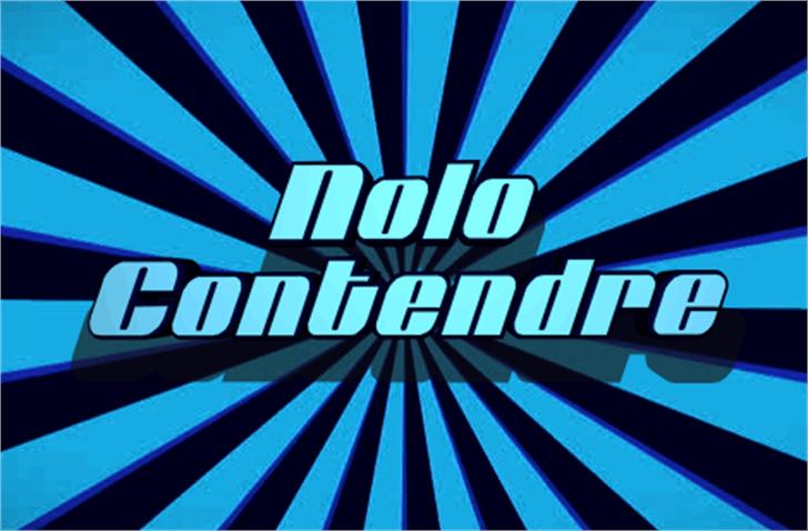 Nolo Contendre Font screenshot electric blue