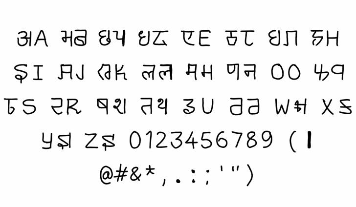 cyrillic hinglish Font Letters Charmap