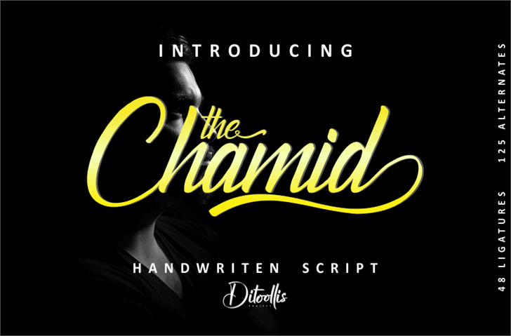 The Chamid Personal Use Only Font text design