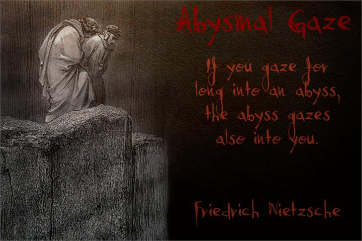 Abysmal Gaze font by David Kerkhoff