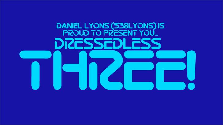 Dressedless Font screenshot font