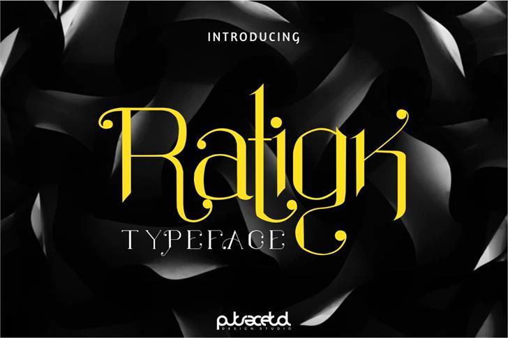 Ratigk Font design poster