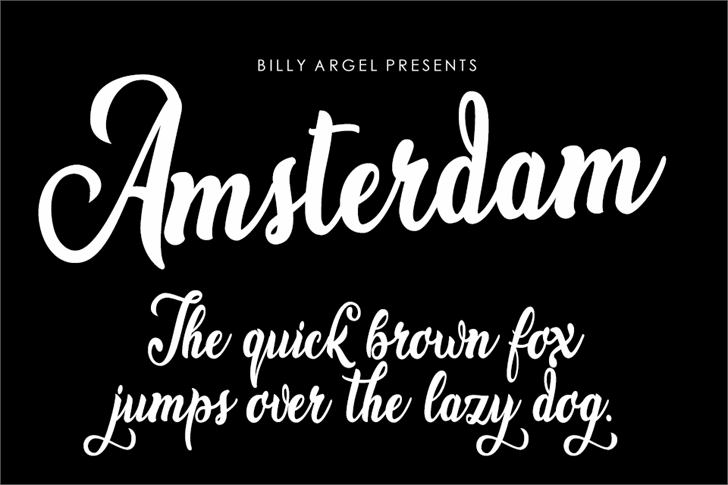 Amsterdam font by Billy Argel
