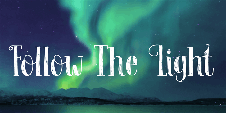 Follow The Light DEMO Font screenshot poster