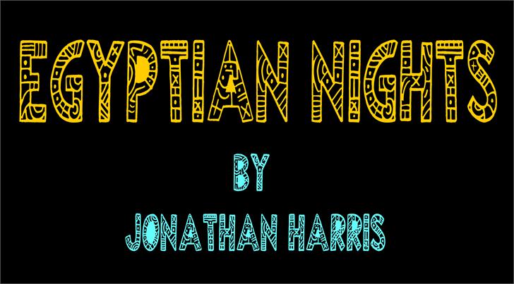 Egyptian Nights Font screenshot design