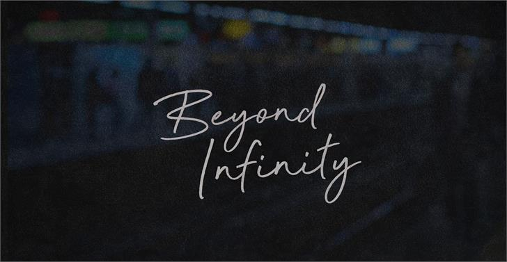 Beyond Infinity - Demo Font handwriting blackboard