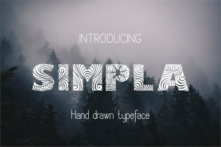 Simpla Font fog design
