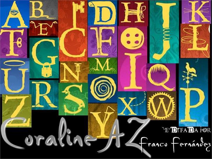 CoralineAZ Font cartoon poster
