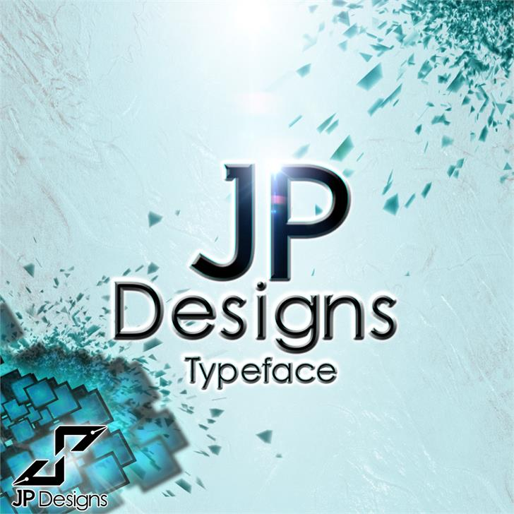 JP Designs Personal Use Font screenshot poster
