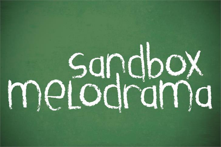 Sandbox Melodrama Font handwriting blackboard
