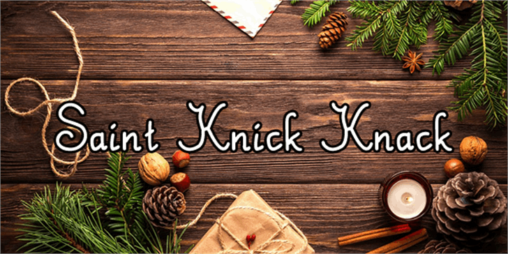 Saint Knick Knack Font fruit food
