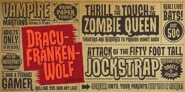 DracuFrankenWolf BB font by Blambot