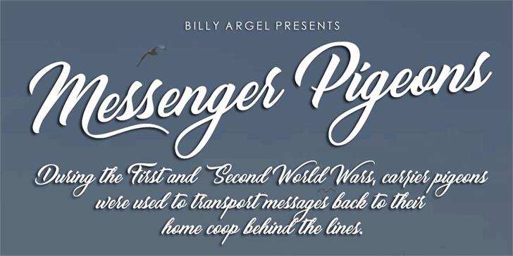 Messenger Pigeons Personal Use Font design text