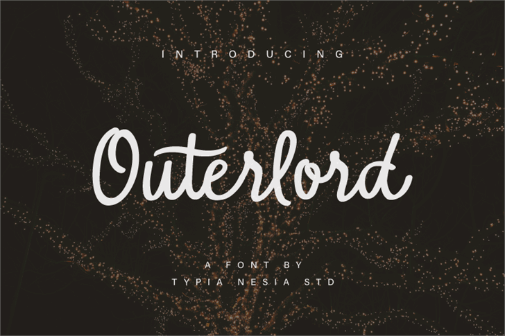 Outerlord Font design typography