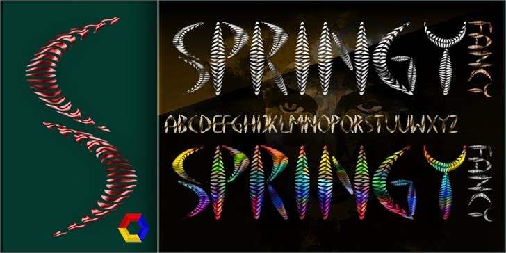 Springy Font butterfly