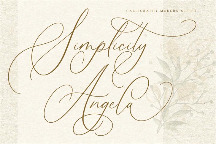Simplicity Angela Font poster