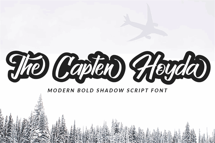 The Capten Hoyda Font design typography