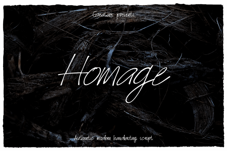 Homage Font text handwriting